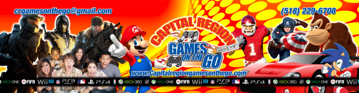 Capital Region Games On The Go – Video Game Truck Party in Albany, Clifton Park, Colonie & More